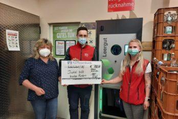 700,08 Euro durch Pfandspendeaktion von REWE Aidlingen